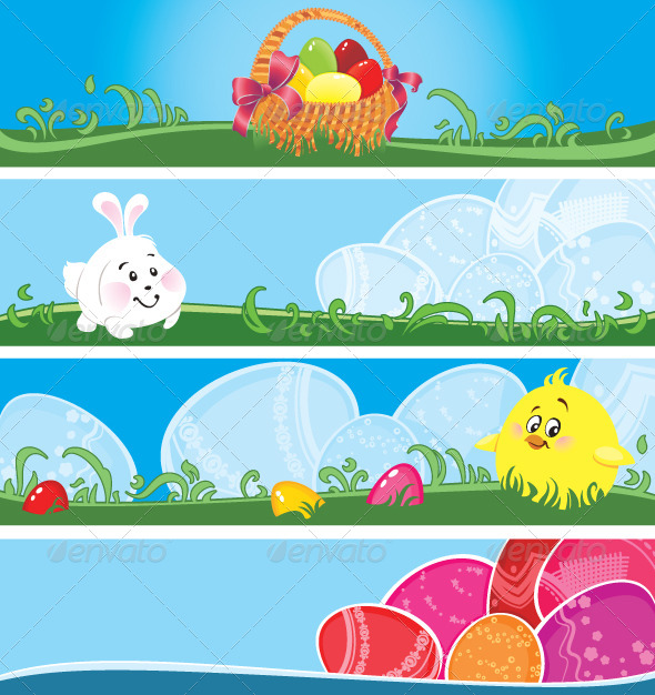 Easter Multicolor Banners  - Seasons/Holidays Conceptual