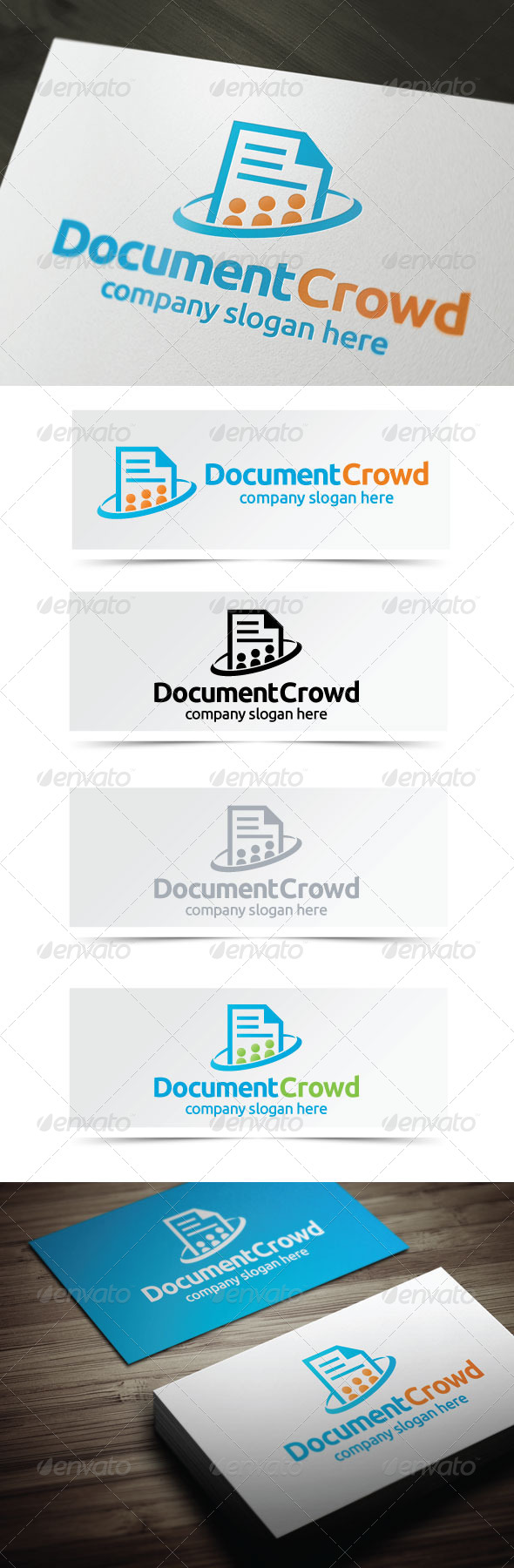 Document Crowd - Objects Logo Templates