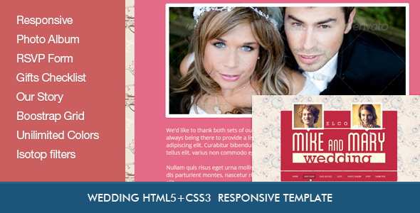 Wedding Retro HTML5 Template