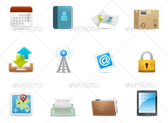 Qicon series | Web and Communication icons 3 - Web Icons
