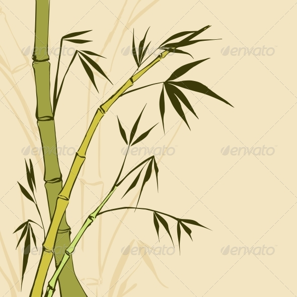 Bamboo Painting - Flowers & Plants Nature