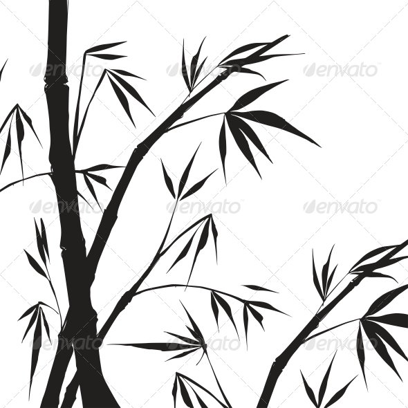 Bamboo Isolated Illustration. - Flowers & Plants Nature