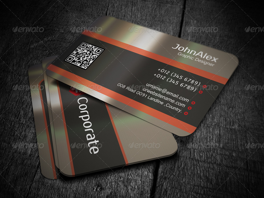 Metal Business Card by -axnorpix | GraphicRiver