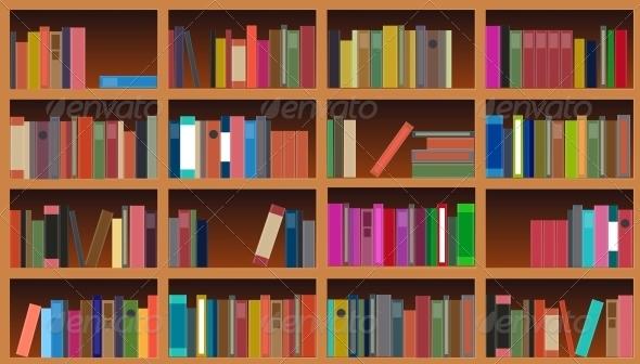Bookcase Vector Illustration - Miscellaneous Conceptual