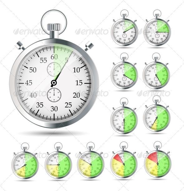 Stopwatch Vector Illustraion - Computers Technology