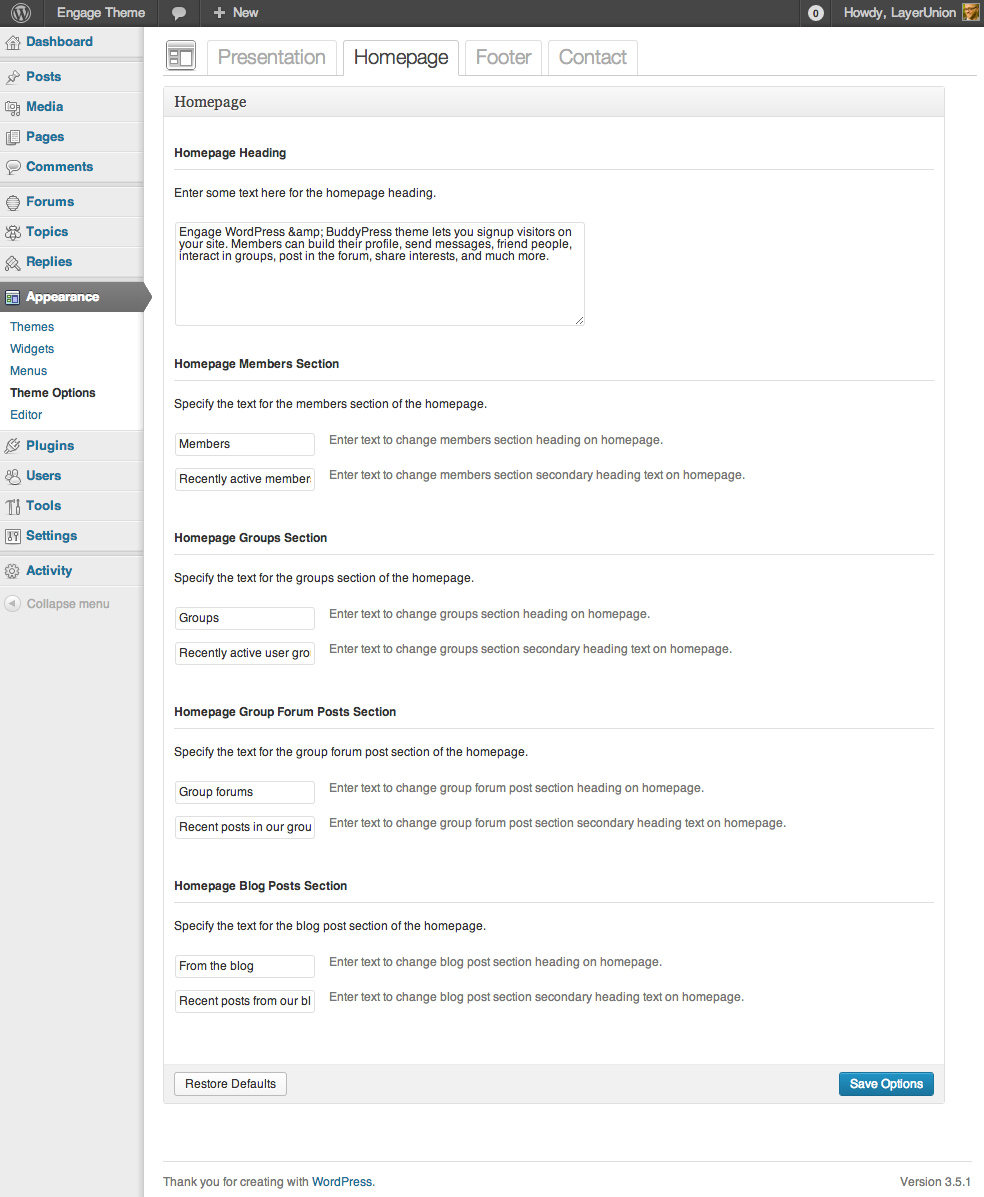 Engage - WordPress, BuddyPress, bbPress Theme by LayerUnion ...