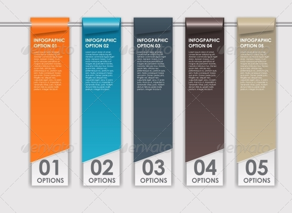 Infographics Design Elements Vector Illustration - Seasons Nature