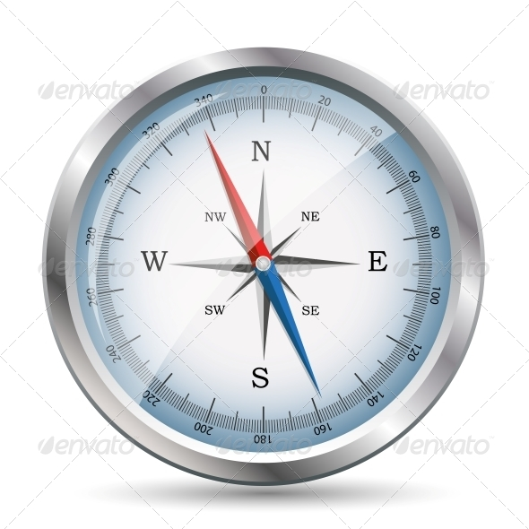 Glossy Compass. Vector Illustration. - Concepts Business