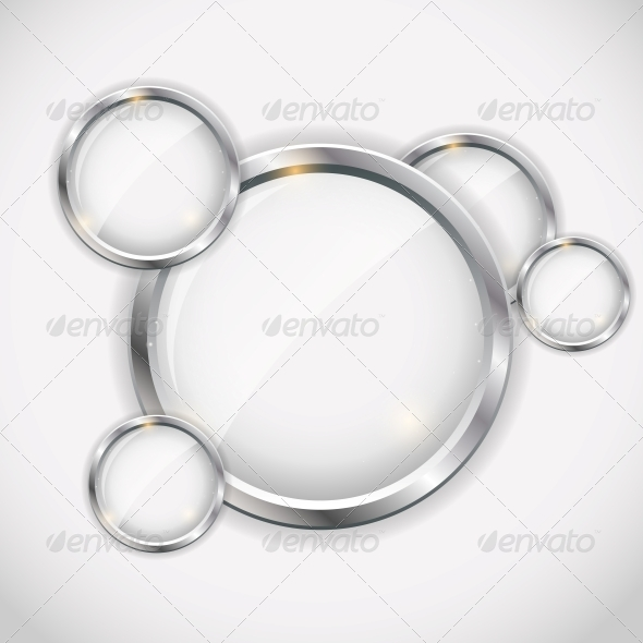 Glass Frame on Abstract Metal Background. - Concepts Business