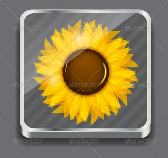 Sunflowers Vector Illustration Background - Seasons Nature