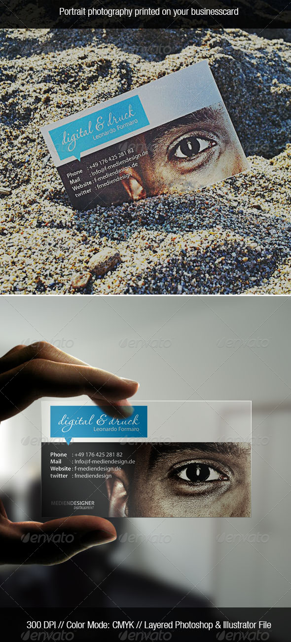 Transparent Photo Business Card - Creative Business Cards