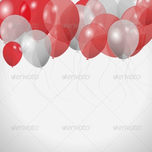 Colored Balloons, Vector Illustration - Miscellaneous Vectors
