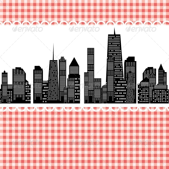 Vector Illustration of Cities Silhouette. EPS 10. - Miscellaneous Vectors