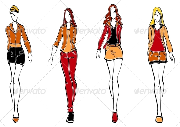 Casual Fashion Models - People Characters