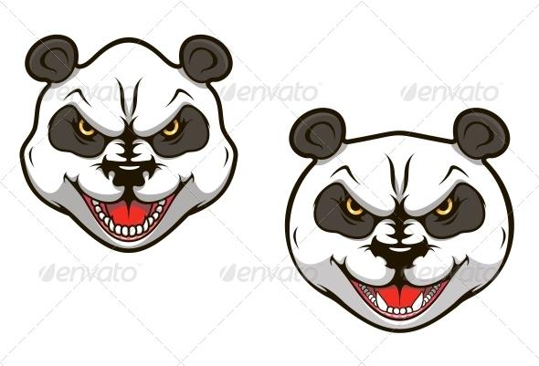 Angry Panda Bear - Animals Characters