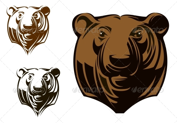 Big Grizzly Bear - Animals Characters