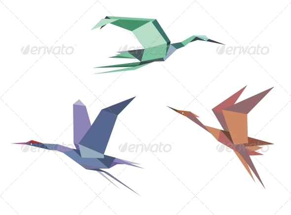 Herons, Cranes and Storks - Animals Characters