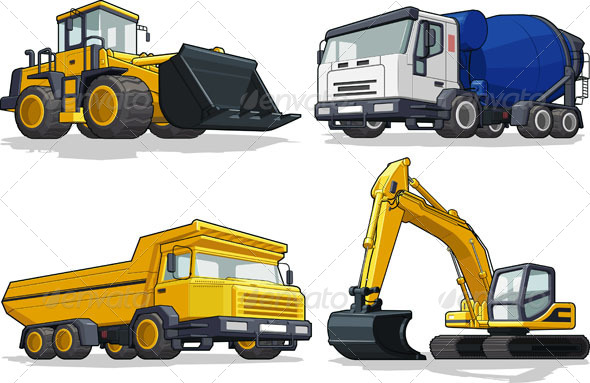 Construction Vehicles  - Man-made Objects Objects