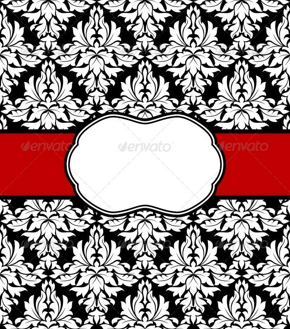 Seamless Background with Elegant Frame - Patterns Decorative