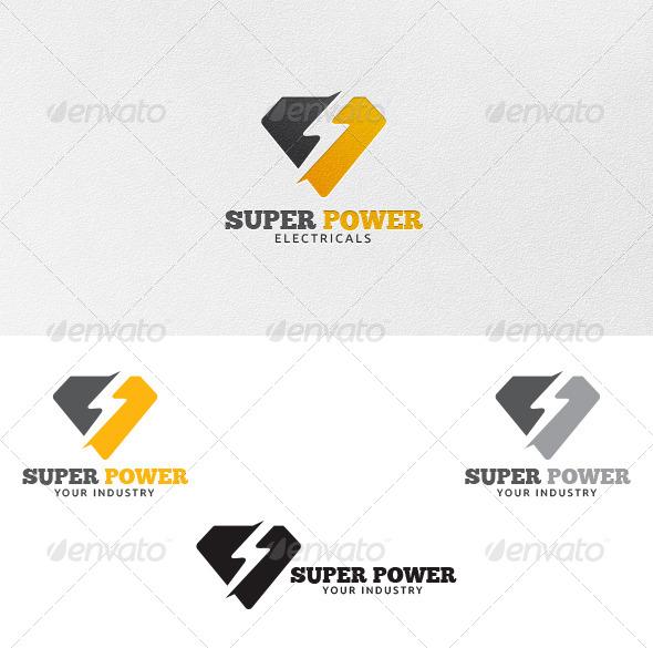 Super Power - Logo Template - Vector Abstract