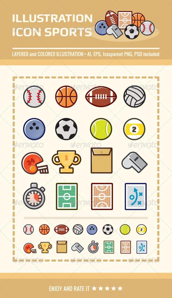 Illustration Icon Sports - Miscellaneous Icons