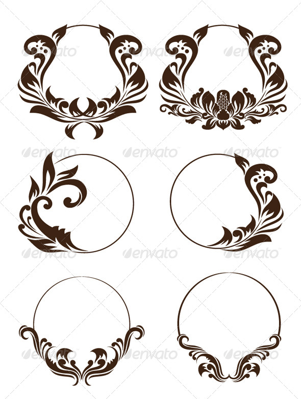 Circle Ornament Set - Decorative Symbols Decorative