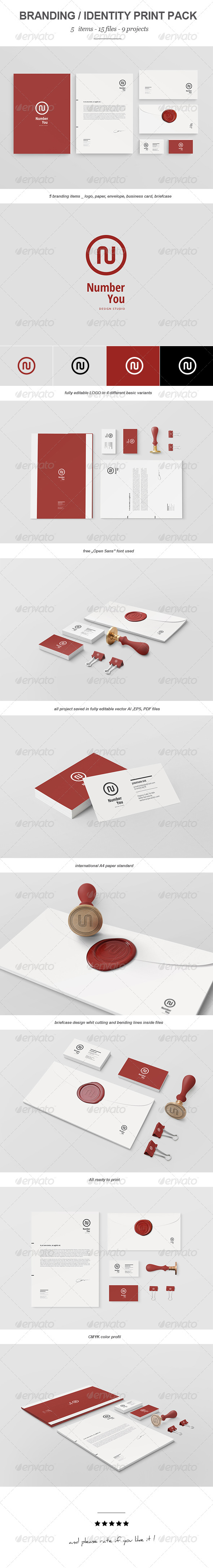 Number You Branding Print Pack - Stationery Print Templates