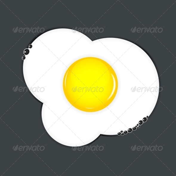 Fried Eggs Vector Illustration - Miscellaneous Vectors