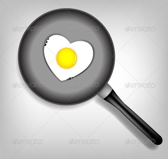 Fried Eggs Vector Illustration - Miscellaneous Vectors