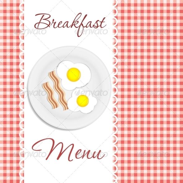 Breakfast Menu Vector Illustration - Miscellaneous Vectors