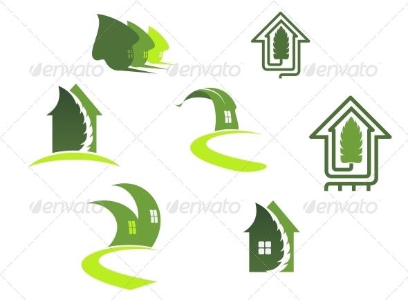 Green Ecological Symbols - Decorative Symbols Decorative