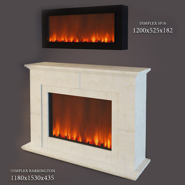 Electric Fireplace Dimplex - 3DOcean Item for Sale
