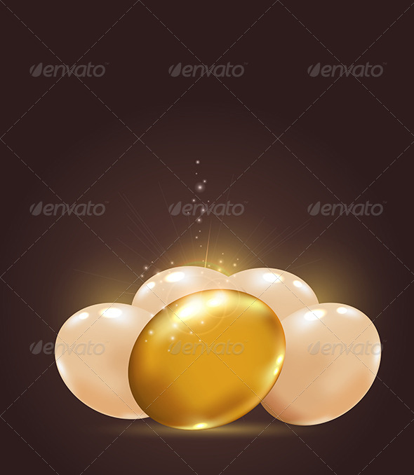 Golden Easter Eggs - Miscellaneous Seasons/Holidays