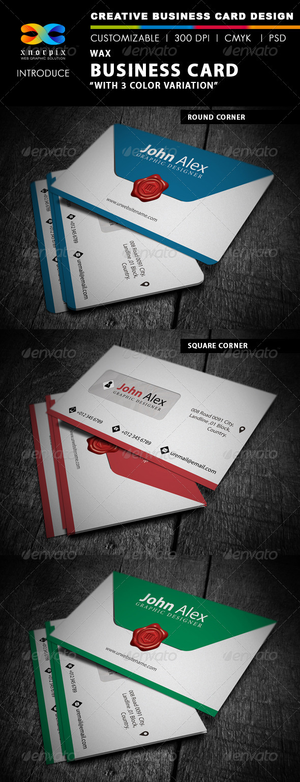 Wax Business Card - Creative Business Cards
