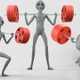 Alien Performing Back Squats 2 - VideoHive Item for Sale