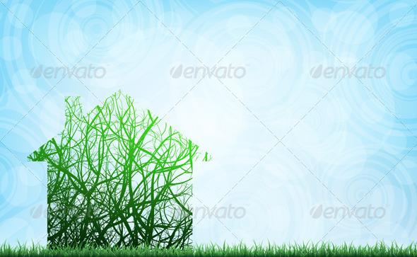 Ecological House - Conceptual Vectors