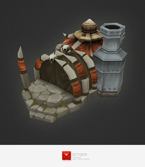 Low Poly RTS Orc Factory - 3DOcean Item for Sale
