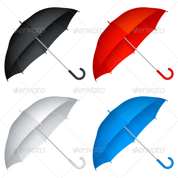 Umbrellas - Objects Vectors