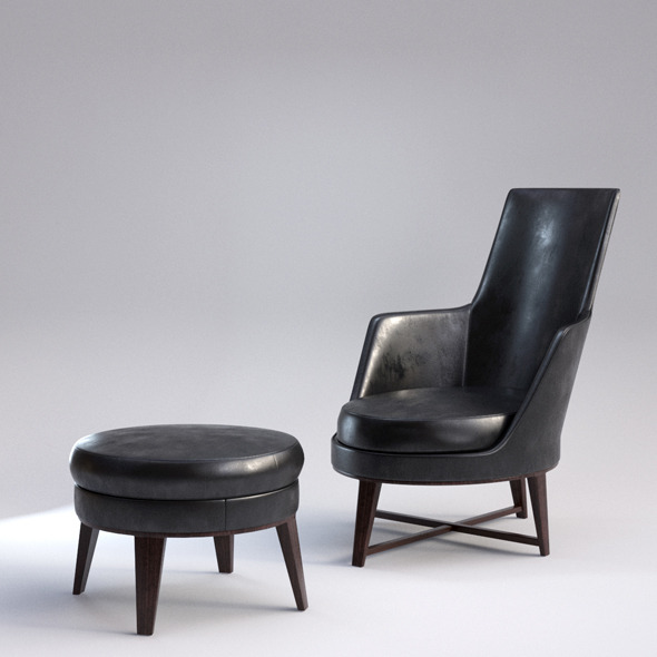 Guscio Armchair with Realistic Material - 3DOcean Item for Sale