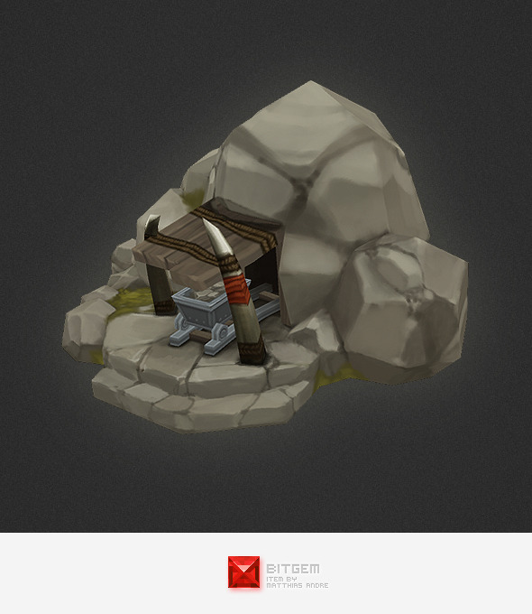 Low Poly RTS Orc Mine - 3DOcean Item for Sale