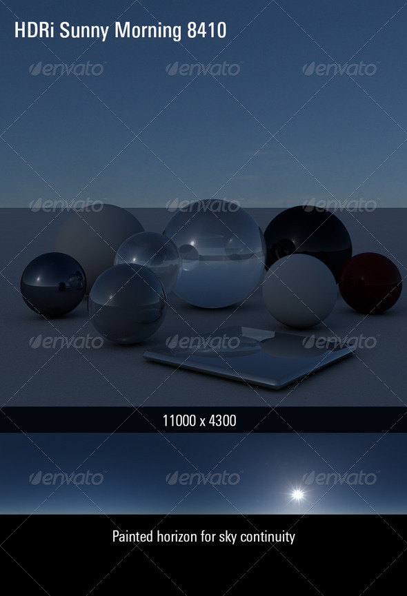 HDRi Sky Sunny Morning 8410 - 3DOcean Item for Sale