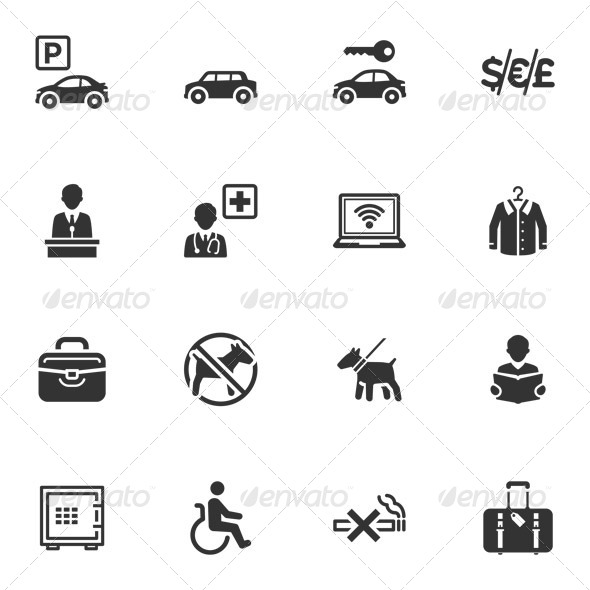Hotel Services and Facilities Icons - Set 1 - Icons