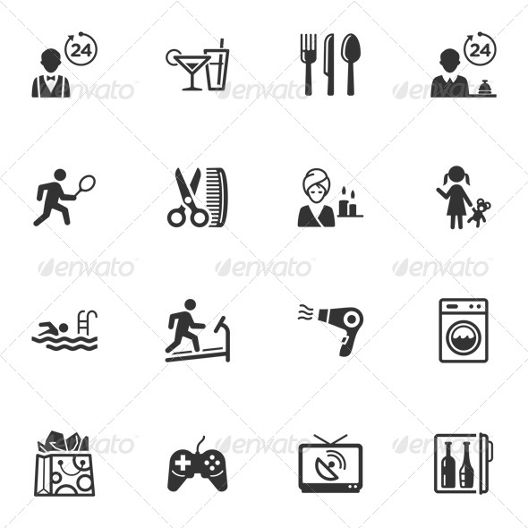 Hotel Services and Facilities Icons - Set 2 - Icons