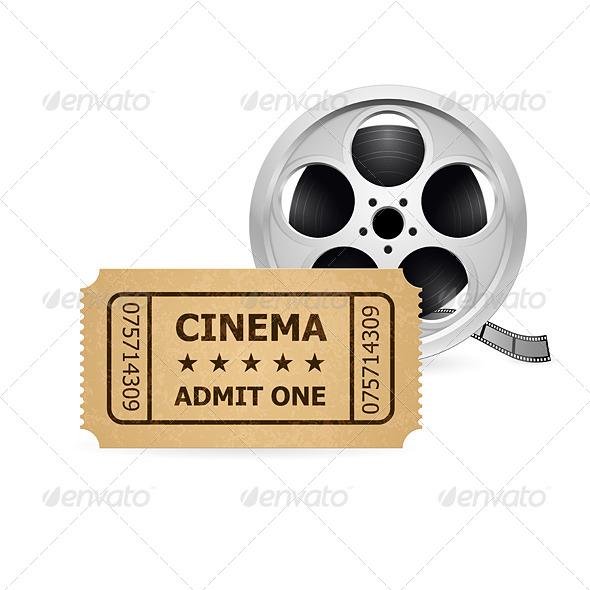 Retro Cinema Ticket and Babin - Miscellaneous Vectors