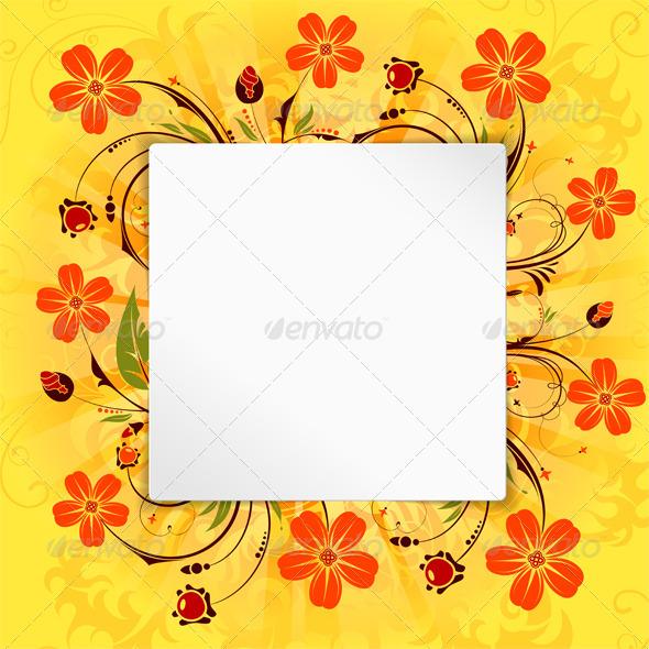 Flower Frame - Miscellaneous Seasons/Holidays