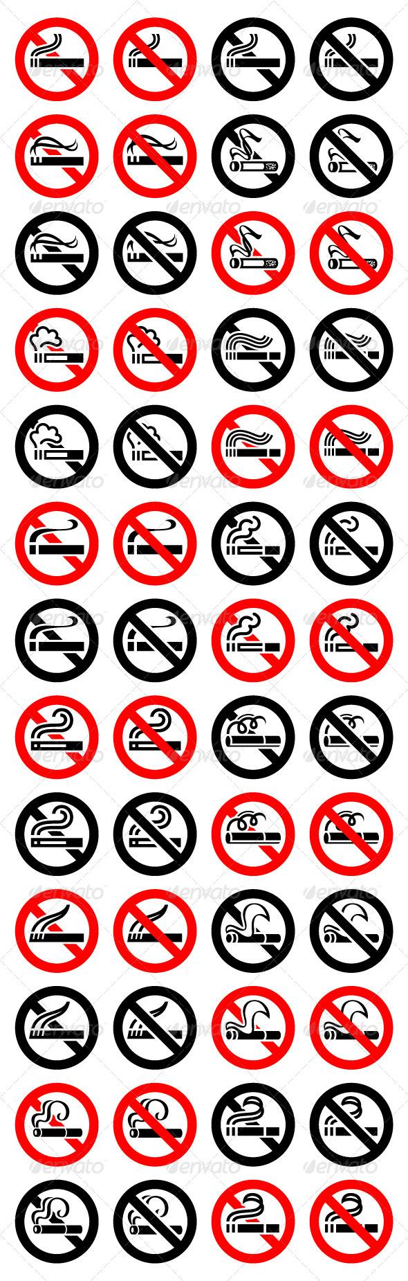 52 Round Signs 13 Cigarette Symbols - Decorative Symbols Decorative