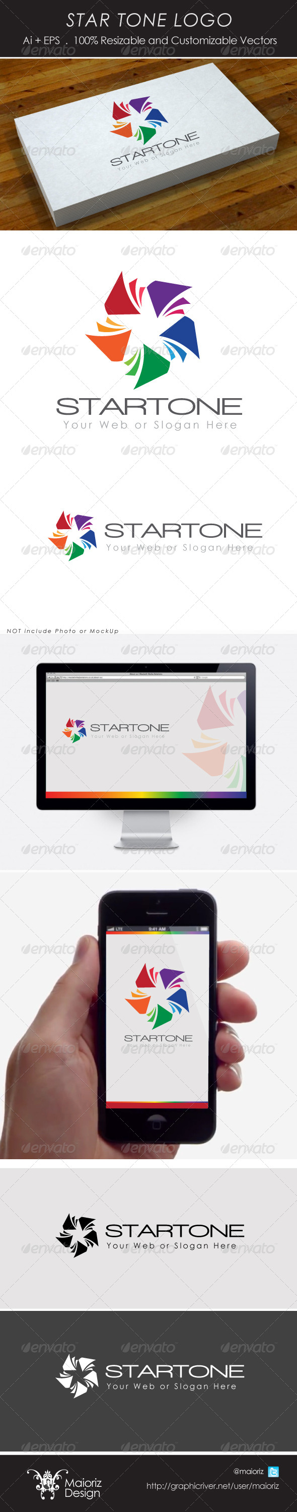 Star Tone Logotype - Vector Abstract