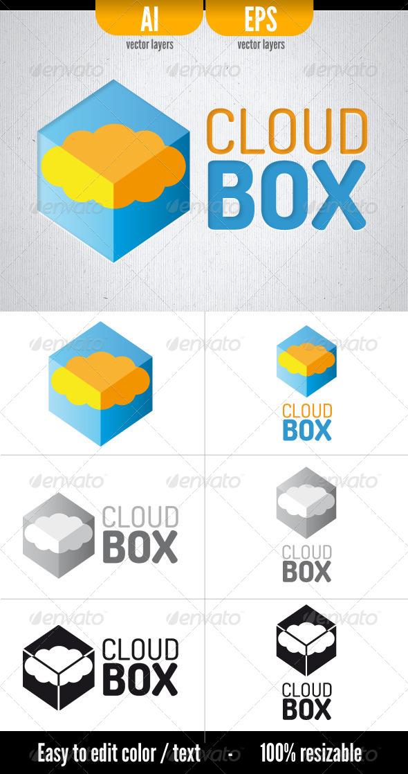 Cloud Box - Symbols Logo Templates