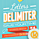 Letters Delimiter - GraphicRiver Item for Sale