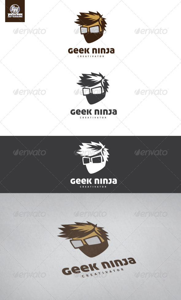 Geek Ninja Logo Template - Humans Logo Templates
